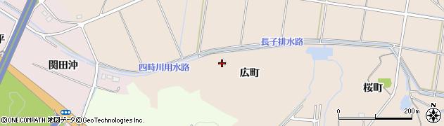福島県いわき市錦町(広町)周辺の地図
