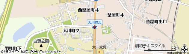 大川町北周辺の地図