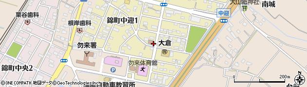 福島県いわき市錦町中迎周辺の地図