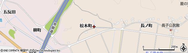 福島県いわき市錦町(松木町)周辺の地図
