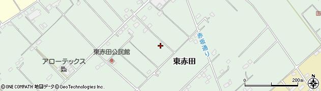 栃木県那須塩原市東赤田周辺の地図