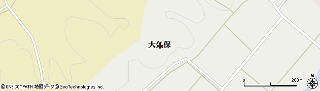 栃木県大田原市大久保周辺の地図