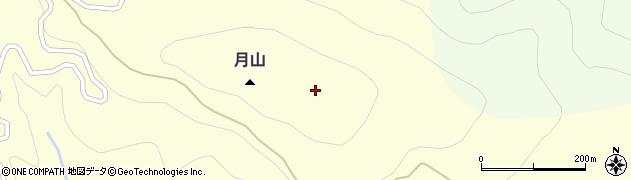 月山周辺の地図