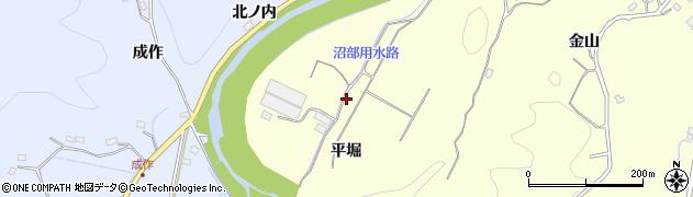 福島県いわき市沼部町(平堀)周辺の地図