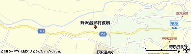 長野県下高井郡野沢温泉村周辺の地図