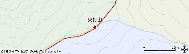 火打山周辺の地図