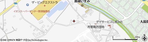 栃木県那須塩原市島方周辺の地図