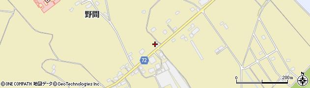 栃木県那須塩原市野間周辺の地図