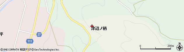 福島県東白川郡塙町大蕨津辺ノ栖周辺の地図