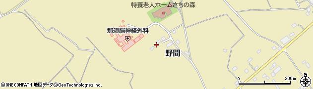 栃木県那須塩原市野間453周辺の地図