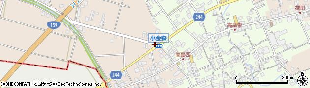 小金森周辺の地図