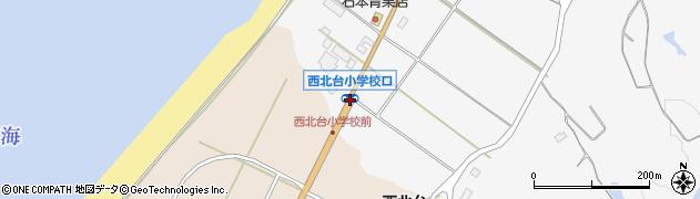 西北台小口周辺の地図