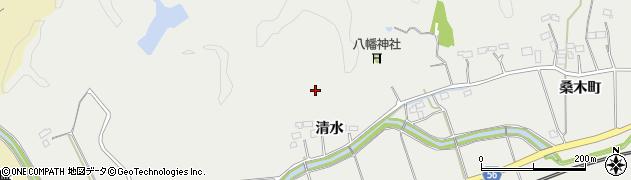 福島県いわき市添野町(清水)周辺の地図
