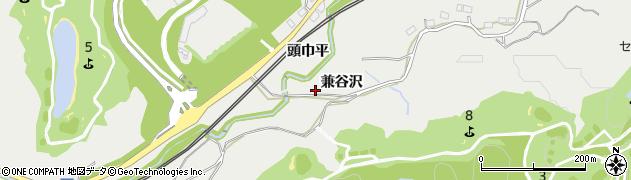 福島県いわき市添野町(兼谷沢)周辺の地図