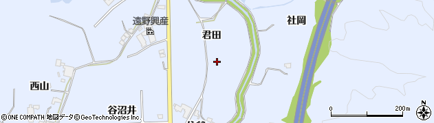 福島県いわき市山田町(君田)周辺の地図