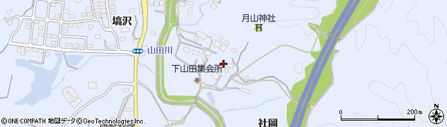 福島県いわき市山田町(社岡)周辺の地図