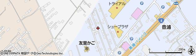 栃木県那須塩原市豊浦周辺の地図