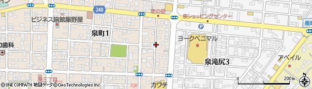 福島県いわき市泉町滝尻(菅俣)周辺の地図