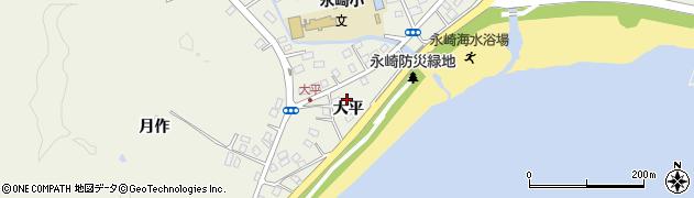 福島県いわき市永崎(大平)周辺の地図