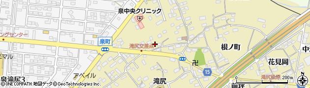 福島県いわき市泉町滝尻(中ノ坪)周辺の地図