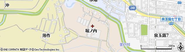 福島県いわき市泉町(堀ノ内)周辺の地図