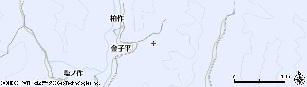 福島県いわき市山田町(金子平)周辺の地図