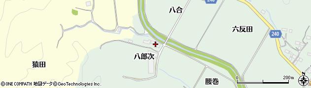 福島県いわき市渡辺町松小屋(八郎次)周辺の地図