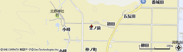 福島県いわき市渡辺町田部(堂ノ前)周辺の地図