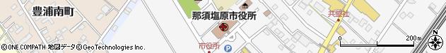 栃木県那須塩原市周辺の地図