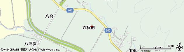 福島県いわき市渡辺町松小屋(六反田)周辺の地図