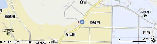 福島県いわき市渡辺町昼野(白岩)周辺の地図