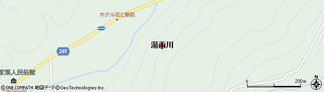 栃木県日光市湯西川周辺の地図