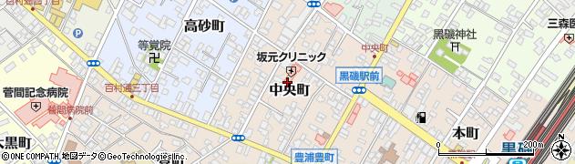 栃木県那須塩原市中央町周辺の地図