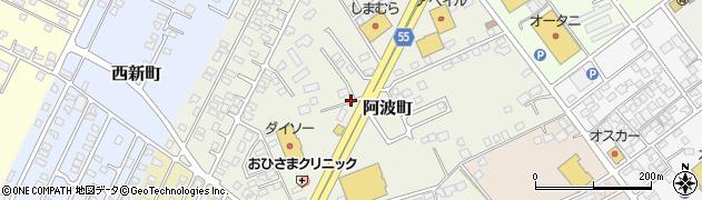 栃木県那須塩原市阿波町周辺の地図