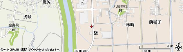 福島県いわき市小名浜住吉(袋)周辺の地図