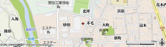 福島県いわき市小名浜住吉(不毛)周辺の地図