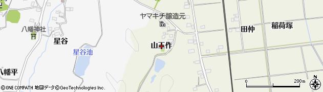福島県いわき市常磐岩ケ岡町(山王作)周辺の地図