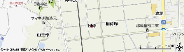 福島県いわき市常磐岩ケ岡町(田仲)周辺の地図