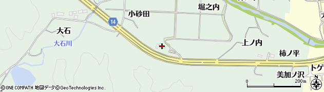 福島県いわき市常磐藤原町(小砂田)周辺の地図