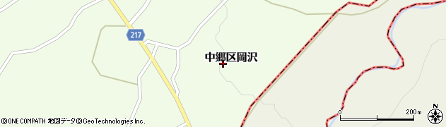 新潟県上越市中郷区岡沢周辺の地図