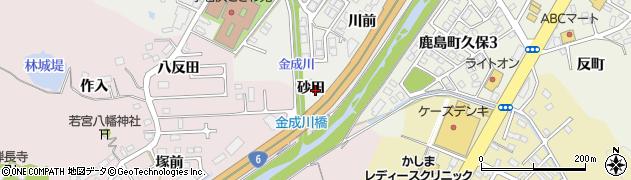 福島県いわき市小名浜金成(砂田)周辺の地図