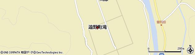 福島県いわき市遠野町滝周辺の地図