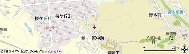 福島県いわき市常磐下湯長谷町(家中跡)周辺の地図