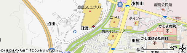 福島県いわき市鹿島町米田(日渡)周辺の地図