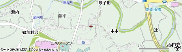 ふじ滝・旅館周辺の地図