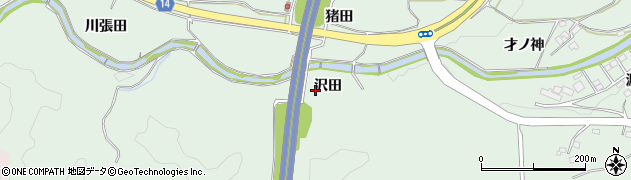 福島県いわき市常磐藤原町(沢田)周辺の地図