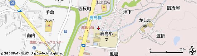 福島県いわき市鹿島町走熊(中島)周辺の地図