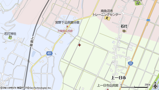 〒949-6364 新潟県南魚沼市上一日市の地図