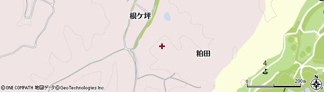 福島県いわき市平上山口(粕田)周辺の地図