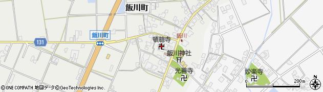 頓聴寺周辺の地図